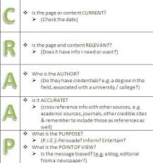 Craap Test C R A A P Detection Killarney Library Learning Commons