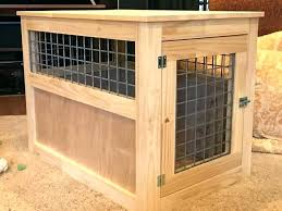 dog crate table cover side wood over kennel diy