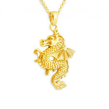 necklaces animals gold plated necklace chinese dragon with wings zodiac sign save loading zoom