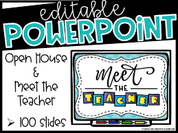Open House Powerpoint Meet The Teacher Open House Powerpoint Presentation Editable