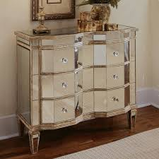 Mirrored Furniture Hooker Furniture 3 Drawer Curved Mirrored Chest Hayneedle