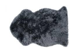 gray sheepskin rug