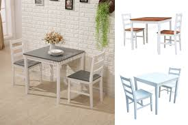 sentinel westwood solid pine wood dining table with 2 chairs set kitchen home furniture