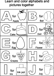 Coloring Sheet Abc Coloring Sheets Printable Abc Color Sheets For