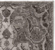 pottery barn nolan persian rug gray 5x8