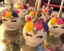 Unicorn Cake Pops Etsy