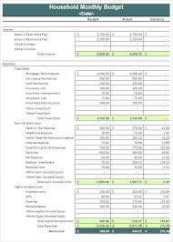Free Household Budget Template Lorgprintmakers Com