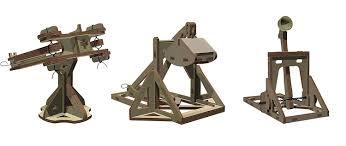Trebuchet Catapult Design Plans Abong Wooden Mini Medieval Desktop Warfare Model Kits To
