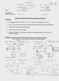 homework help completing the square unit review sheet quadratic functions and worksheet solve the quadratic equation