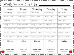 Monthly Reward Chart Template Monthly Behavior Chart For Kindergarten Behavior Chart