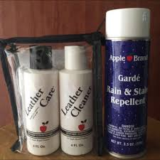 1 apple brand leather cleaner conditioner kit or 2 rain stain repellent luxury on carou