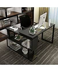 l shaped desk modern. Wonderful Shaped Tribesigns Modern LShaped Desk 55 Inch Rotating Corner Computer Desk  Study Writing Table In L Shaped