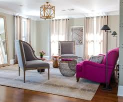 fuschia furniture. brilliant fuchsia accent couch enlivens the living room in gray and blue velvet anthropologie vintage fuschia furniture n