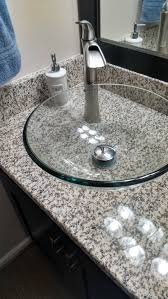 Pullman Kitchen Granite Bay Espresso Vessel Vanity With White Sands Luna Pearl Granite Top