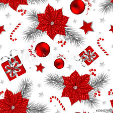 Christmas Backgrounds For Flyers Seamless Christmas Pattern With Gifts Baubles Stars