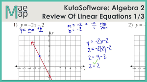 kuta algebra 2 review of linear equations part 1