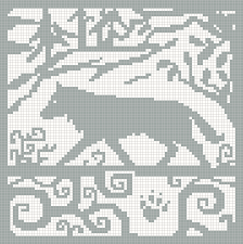 Wolf Knitting Chart Possibly Turn Into A Double Sided
