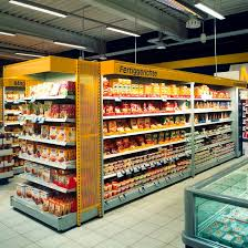 supermarket gondola shelving combi