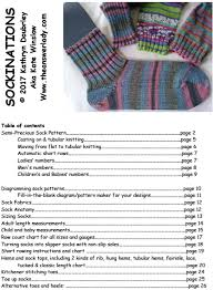 Knitting Sock Measurement Chart Sock Books There Are 5 To Choose From