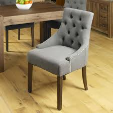 upolstered dining chairs. Baumhaus Shiro Walnut Accent Slate Upholstered Dining Chair (Pair) Upolstered Chairs H