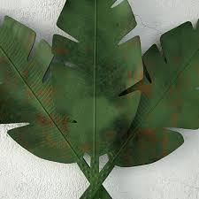 palm leaves metal wall art 3d model max fbx unitypackage prefab 4