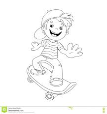 skateboard coloring pages page outline of cartoon boy on the bart simpson