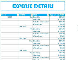 Student Budget Planner Expense Budget Template Excel