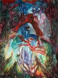 saatchi art artist safir rifas painting alice in wonderland art