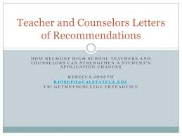 Letter Of Recommendation Student Tips For Writing Powerful Teacher And Counselor Letters Of Recommenda