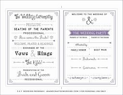 Wedding Program Free Template Inspirational Wedding Brochure ...