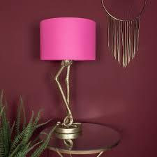 Flamingo Light Fixture Brass Flamingo Leg Table Lamp With Pink Shade Pink Lamp