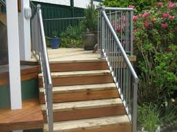 metal handrails for deck stairs. deck staircase with metal handrails for stairs l