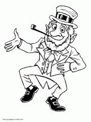 Small Picture St Patricks Day coloring pages Shamrock Leprechaun Pot of Gold
