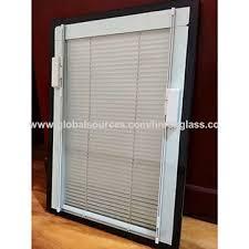 china blinds between glass window door shutter glass