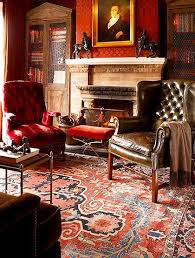 luxurious persian interior design with antique heriz rug