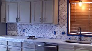 purple backsplash tile purple kitchen