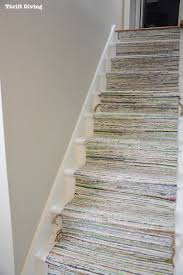 Painted Stairs Before After Diy Painted Stairs Makeover Thrift Diving Blog