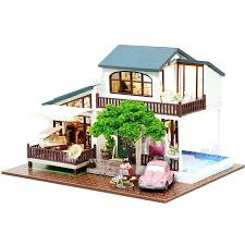 cheap wooden dollhouse furniture. Affordable Dollhouse Furniture Doll House Wooden Houses Miniature Kit Toys For Children Cheap