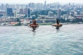 infinity pool singapore hotel. Backpackers Sneak Into Marina Bay Sands\u0027 Infinity Pool Singapore Hotel