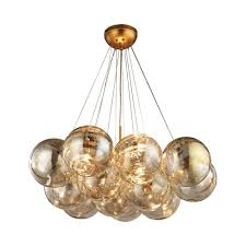 titan lighting cielo 3 light antique gold leaf chandelier