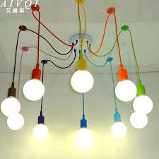 silicone colorful pendant lights diy