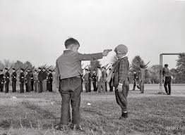 children and a mock execution ghosts of dc kids playing guns at woodrow wilson high school 1943