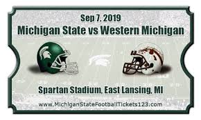 Michigan State Spartans Vs Western Michigan Broncos Football