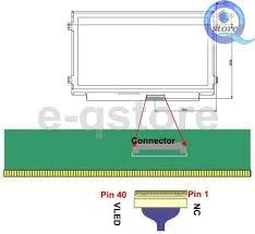 i pex 20453 20455 40pin d6 lvds cable for 10 1 14 15 6 led lcd i pex 20453 20455 40p 单6 b2cqshop