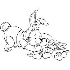Disegno Di Winnie Pooh Pasqua Da Colorare Per Bambini