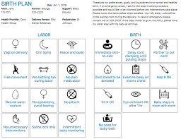 What Should A Birth Plan Look Like Visual Birth Planner
