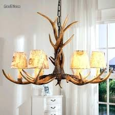 authentic antler lamps deer chandeliers round elk chandelier for 6 lights vintage antlers resin candle fixtures