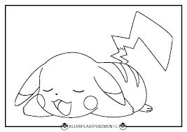Pikachu Kleurplaat Downloaden Kleurplaat Pokémon