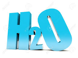 Blue Letters H2o Aqua Formula 3d Blue Letters