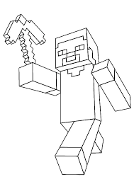 Coloring Coloring Page Minecraft Herobrine Pages Printable All